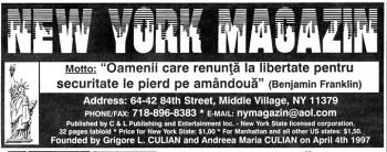 "cap ziar NYM 350x138 Grigore Culian, fondator si editor New York Magazin: ""Le spun americanilor ca vin din cea mai frumoasa tara din lume"""