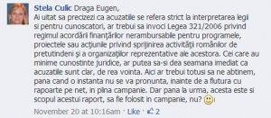 Stela Culic, cumnata lui Eugen Tomac, incearca sa convinga fanii lui Tomac de pe retelele de socializare ca pana la condamnarea penala, cheltuirea milionului de euro nejustificat este doar subiect de campanie electorala!
